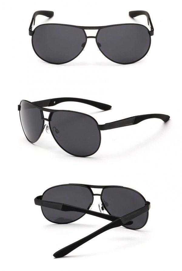 Luxusné polarizované pánske slnečné okuliare v čiernej farbe