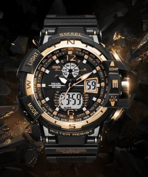 Robustné kombinované pánske hodinky vo viac farbách