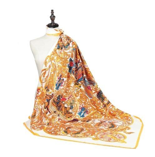 b43dd3314ca3 Elegantná hodvábna šatka je vyrobená z pravého prírodného hodvábu