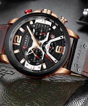 Kvalitné analógové pánske hodinky v troch farbách