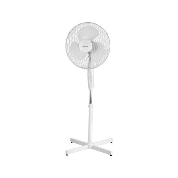 Luxusný ventilátor stojanový ETAC, 110-125cm, 45W, Biela farba