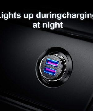 Adaptér do auta s funkciou QUICK CHARGE 3.0, 2x port max 30W, biela farba