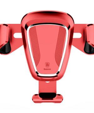 Gravitačný držiak do ventilátora auta BASEUS - červená farba