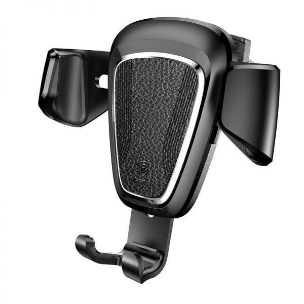 Gravitačný metalický držiak do ventilátora auta BASEUS - Čierna farba