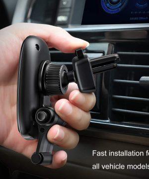 Magnetický držiak do ventilátora automobilu s nožičkou - čierny