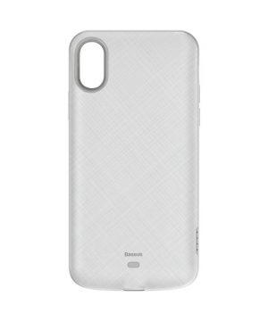 Obal s nabíjaním BASEUS pre iPhone XS, v bielej farbe, 4000 mAh