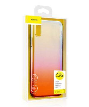 Ochranný dúhový silikónový obal pre iPhone XR v ružovej farbe