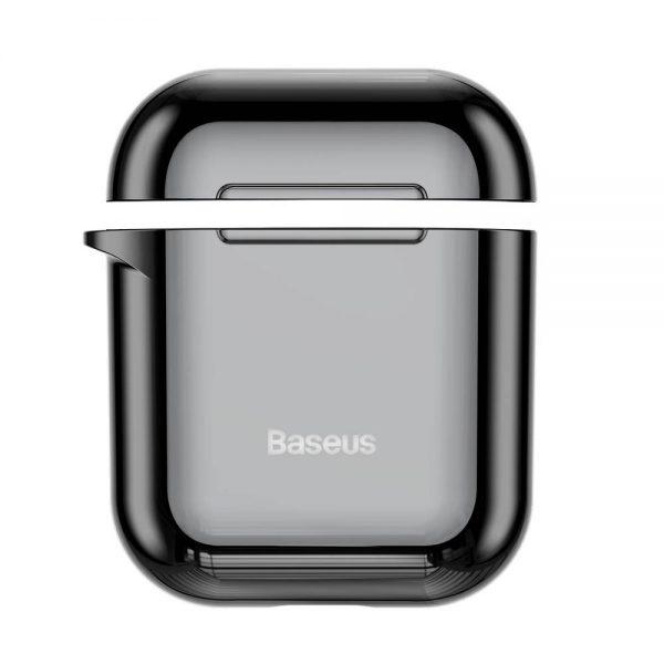 Ochranné púzdro BASEUS pre Apple Airpods v lesklej čiernej farbe