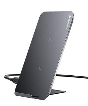 QI bezdrôtová nabíjačka BASEUS na smartfóny v čiernej farbe.