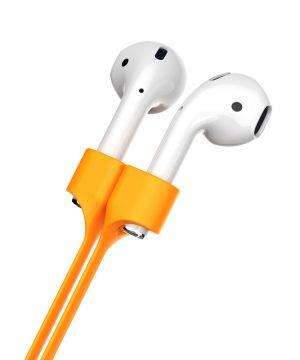 Silikónový popruh s magnetom od prestížnej značky Baseus pre Apple AirPods v oranžovej farbe
