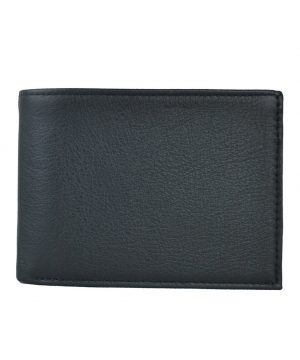 elegantná peňaženka z hrubkovanej pravej kože č.8552 v čiernej farbe 2