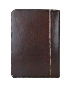 Luxusná exkluzívna kožená spisovka č.8162 v tmavo hnedej farbe