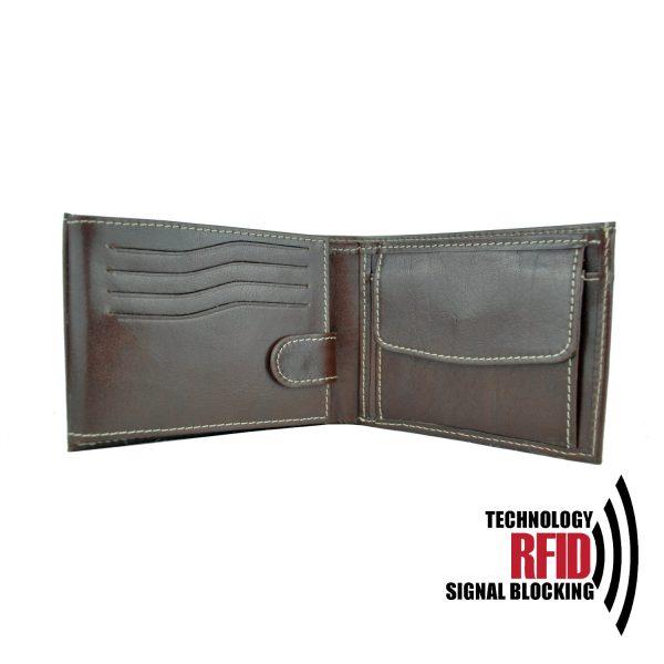 Elegantná peňaženka z pravej kože č.8552 v tmavo hnedej farbe (1) copy