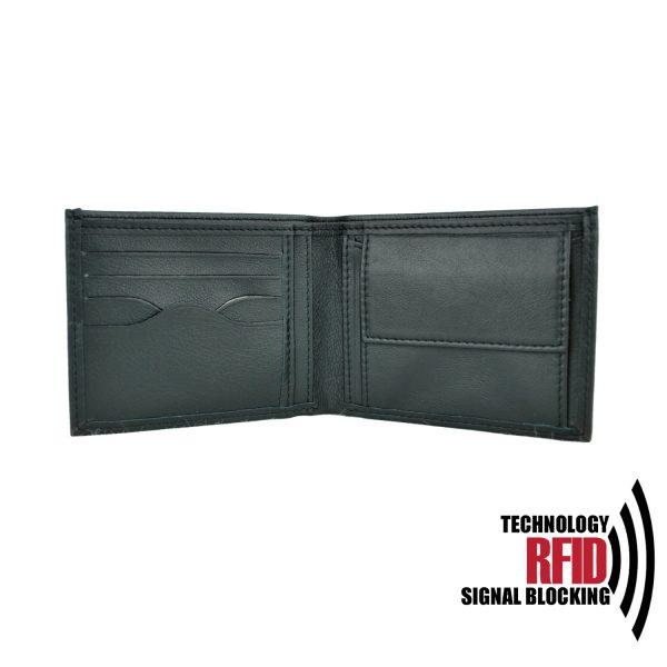 Ochranná kožená peňaženka v čiernej farbe č (1)