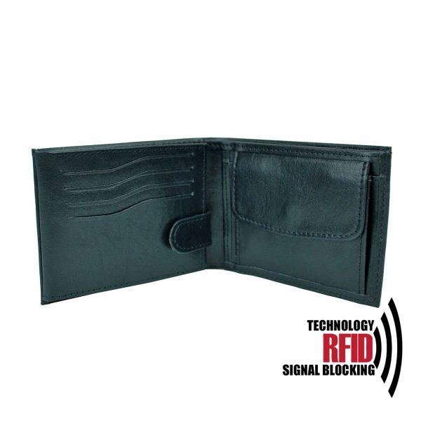 Ochranná kožená peňaženka v čiernej farbe č (2)