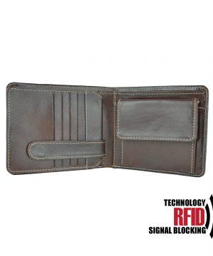 Ochranná kožená peňaženka v hnedej farbe č.7992