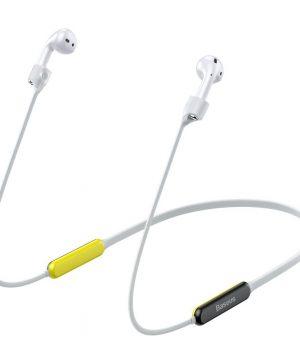 Baseus silikónový popruh pre Apple AirPods s magnetom v šedo žltej farbe.