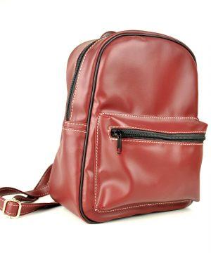 Luxusný praktický ruksak 8672k v tmavo červenej farbe
