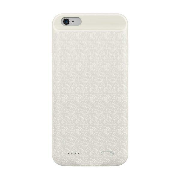 Obal s nabíjaním BASEUS pre iPhone 6 a 6S, v krémovej farbe, 2500 mAh