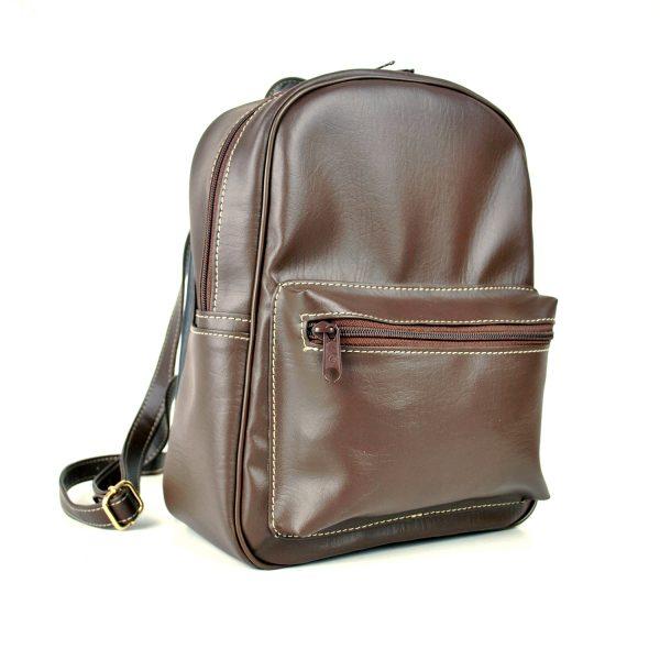 Luxusný praktický ruksak 8672k v hnedej farbe