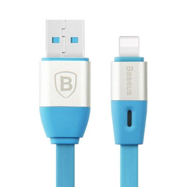 Lightning inteligentný nabíjací kábel BASEUS, 100cm v modrej farbe