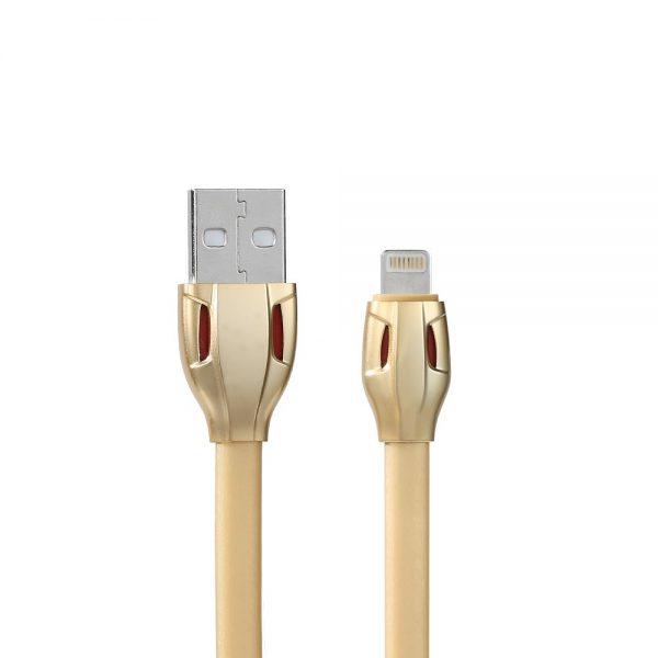Lightning kábel v dizajne hada, 1 meter, zlatá farba