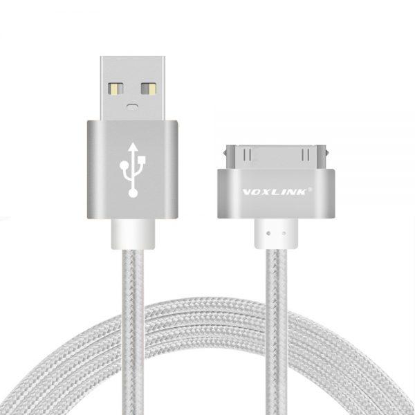 Nabíjací-30-Pinový-kábel-VOXLINK-50cm-strieborná-farba-1