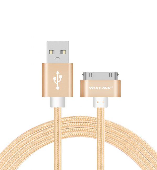 Nabíjací 30-Pinový kábel VOXLINK, 50cm v zlatej farbe