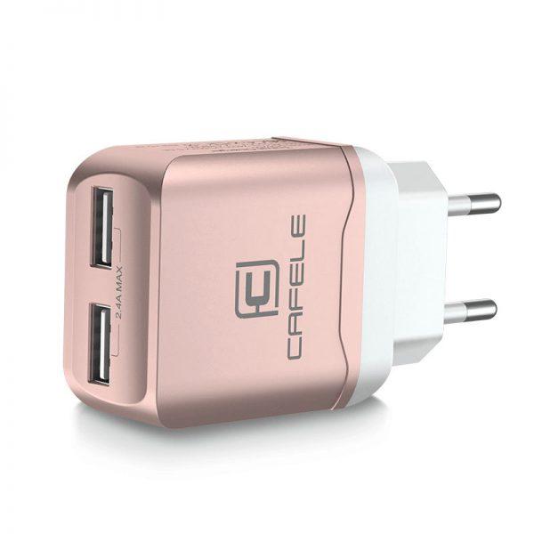 Nabíjací adaptér pre iPhone, iPad a iné zariadenia v ružovo zlatej farbe