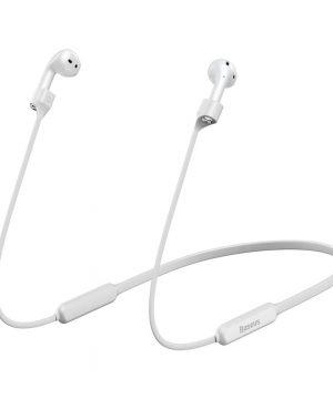 Silikónový držiak pre Apple AirPods s magnetom od prestížnej značky Baseus v bielej farbe