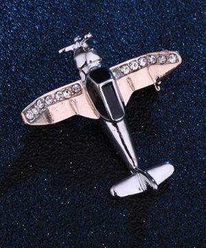 Luxusná brošňa s kryštálikmi v tvare malého lietadielka