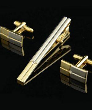 Luxusná kravatová súprava spony a gombíkov s kryštálom
