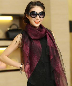 Luxusný dámsky ľahký hodvábny šál vo viacerých farbách