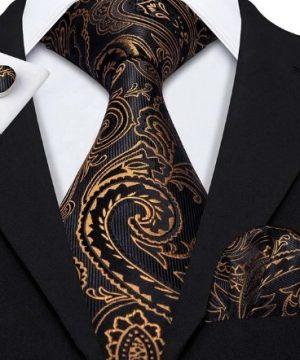 Pánska sada - kravata + manžety + vreckovka s luxusným vzorom