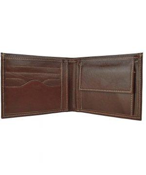 Luxusná peňaženka z pravej kože č.8406 v tmavo hnedej farbe.