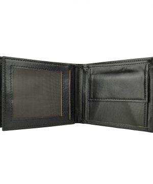 Luxusná peňaženka z pravej kože č.8407 v čiernej farbe