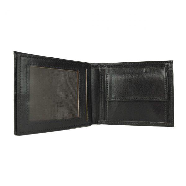 Luxusná peňaženka z pravej kože č.8407 v čiernej farbe,