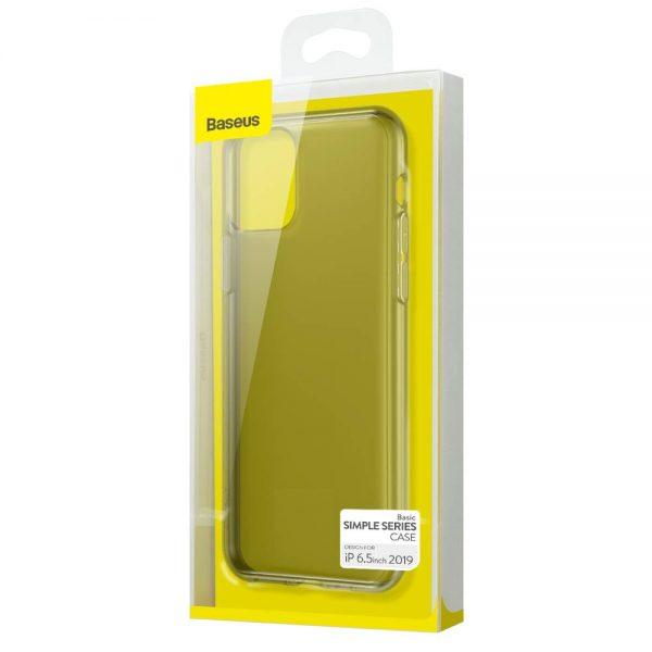 Ochranný silikónový obal pre iPhone 11, transparentná čierna farba