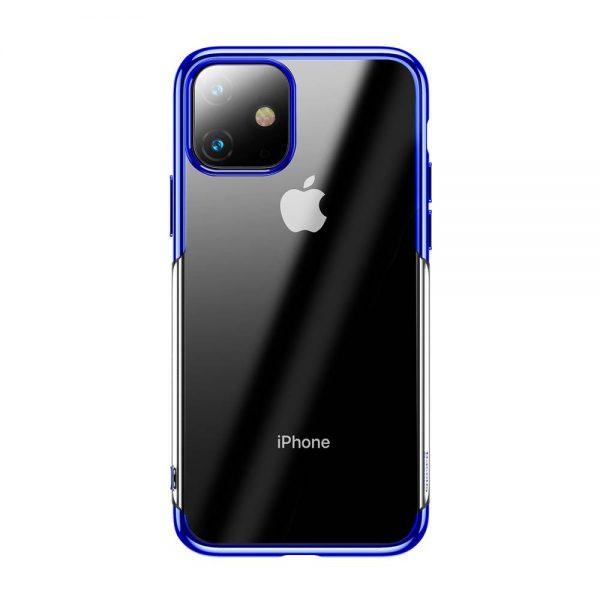 Ochranný silikónový obal pre iPhone 11 v lesklej modrej farbe.