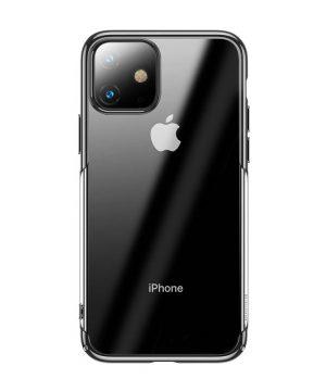 Ochranný tvrdý obal pre iPhone 11 s lesklými v lesklej čiernej farbe.