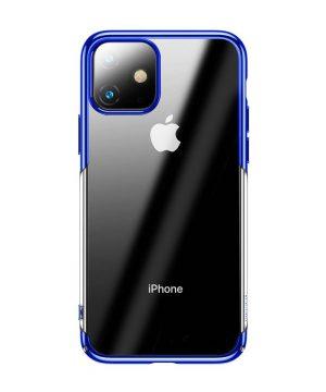 Ochranný tvrdý obal pre iPhone 11 v lesklej modrej farbe.