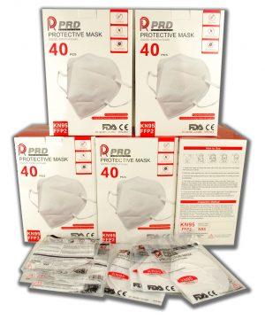 Ochranné respirátory PRD FFP2 (KN95) GB2626 2006 - 40ks (krabica) + individuálne balenie