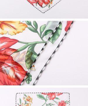 Luxusné rúško so šatkou okolo krku - dizajn_01 + respirátor ZDARMA