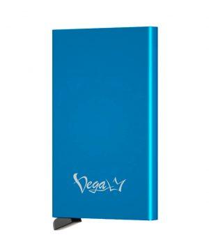 RFID inteligentné hliníkové púzdro na karty s patentovaným mechanizmom v modrej farbe, VEGALM
