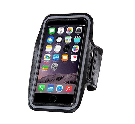 Vodeodolný športový obal pre šport na iPhone 6, 6S, 7, 8, čierna farba
