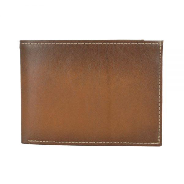 Luxusná kožená peňaženka č.8552, ručne tieňovaná v hnedej farbe