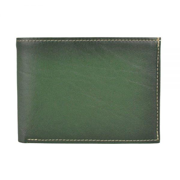 Luxusná kožená peňaženka č.8552, ručne tieňovaná v zelenej farbe