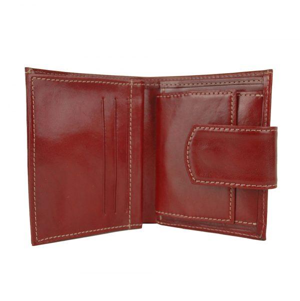 Dámska malá praktická kožená peňaženka č.8448 v bordovej farbe