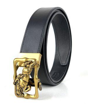 Opasok z pravej kože s automatickou prackou GOLD HORSE