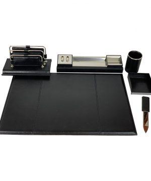 Stolový kancelársky set v čiernej farbe - Kompletný set